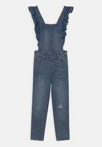 OVS - SALOPETTE WITH RUFFLES - Dungarees - blue - 2