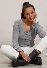 Odd Molly - LINDSAY - Long sleeved top - grey melange - 4