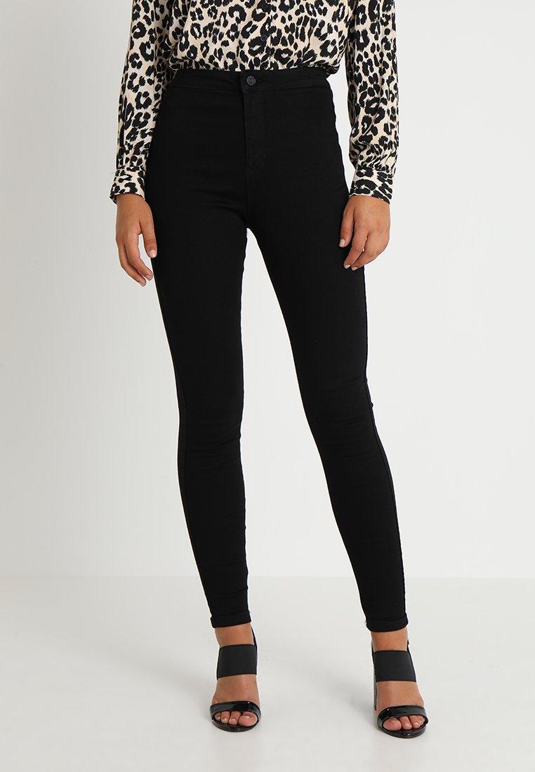 Missguided - VICE HIGH WAISTED  - Kalhoty - black