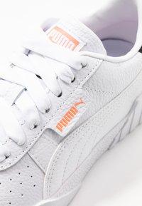 Puma - CALI - Sneakers basse - white/peach - 2