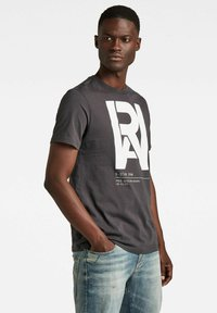 G-Star - GRAPHIC RAW - T-shirt con stampa - raven - 2