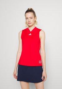 adidas Performance - TANK - Sports shirt - scarlet/signal pink - 0