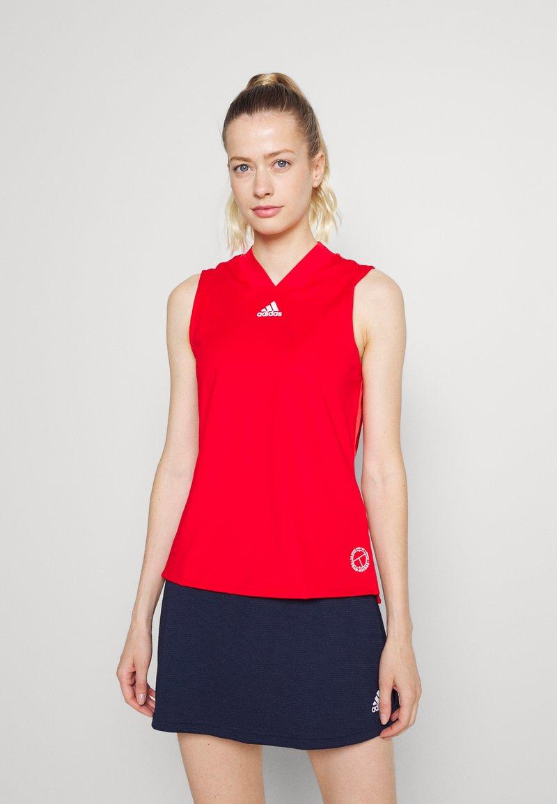 adidas Performance - TANK - Sports shirt - scarlet/signal pink