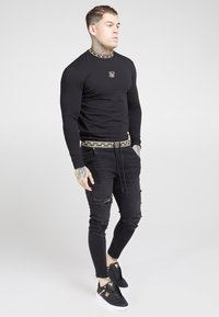 SIKSILK - ELASTICATED WAIST DISTRESSED - Jeans Skinny - black - 1