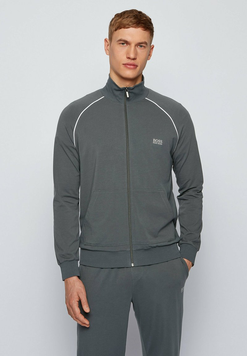 BOSS - Zip-up hoodie - dark green