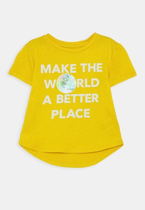 GIRL  - T-shirt print - rainslicker yellow