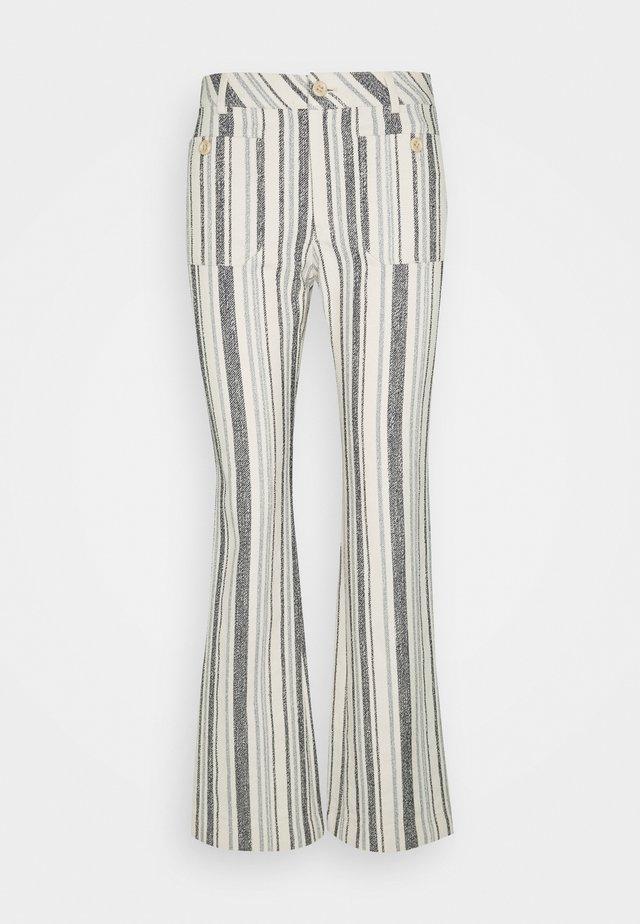 Pantalones - white/blue