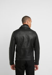 Samsøe Samsøe - SPIKE JACKET  - Leather jacket - black - 2