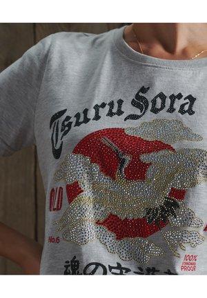 RISING SUN - T-shirt imprimé - grey chalk marl