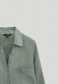 Massimo Dutti - Button-down blouse - green - 3