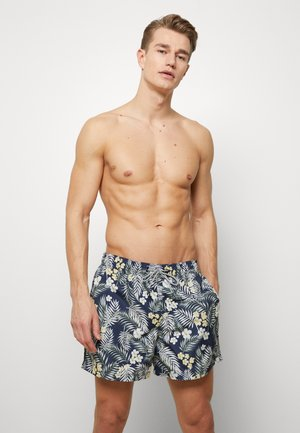 JJIARUBA JJSWIMSHORTS TROPIC - Swimming shorts - navy blazer