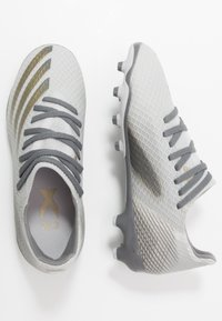 adidas Performance - X GHOSTED.3 MG J - Moulded stud football boots - footwear white/metallic gold/grey two - 1