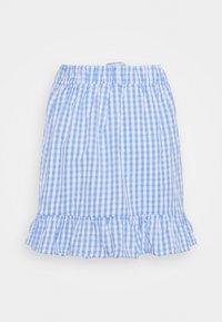 VILA PETITE - VIGRIMDA MINI BELT SKIRT - Mini skirt - cashmere blue/white - 1