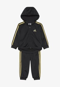 adidas Performance - SHINY FULL ZIP HOODED TRACKSUIT BABY SET - Verryttelypuku - black/gold - 3