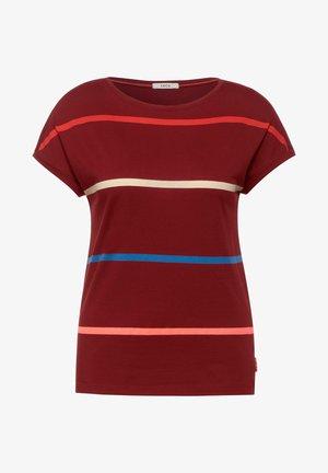 MIT STREIFEN - Print T-shirt - braun