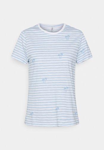 ONLBONE LIFE TOP BOX - T-shirts print - bright white