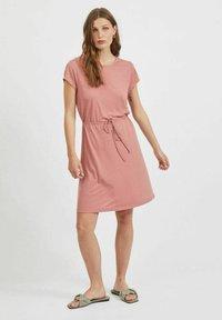 Vila - VIMOONEY STRING - Jersey dress - old rose - 1