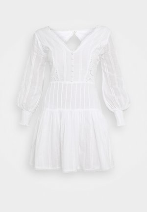 ELIZA DRESS - Vestido camisero - white