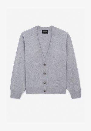 Cardigan - grey melange