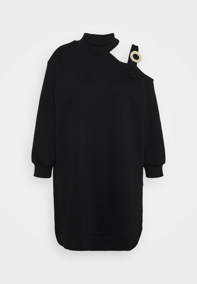 CUT OUT BUCKLE DRESS - Kjole - black