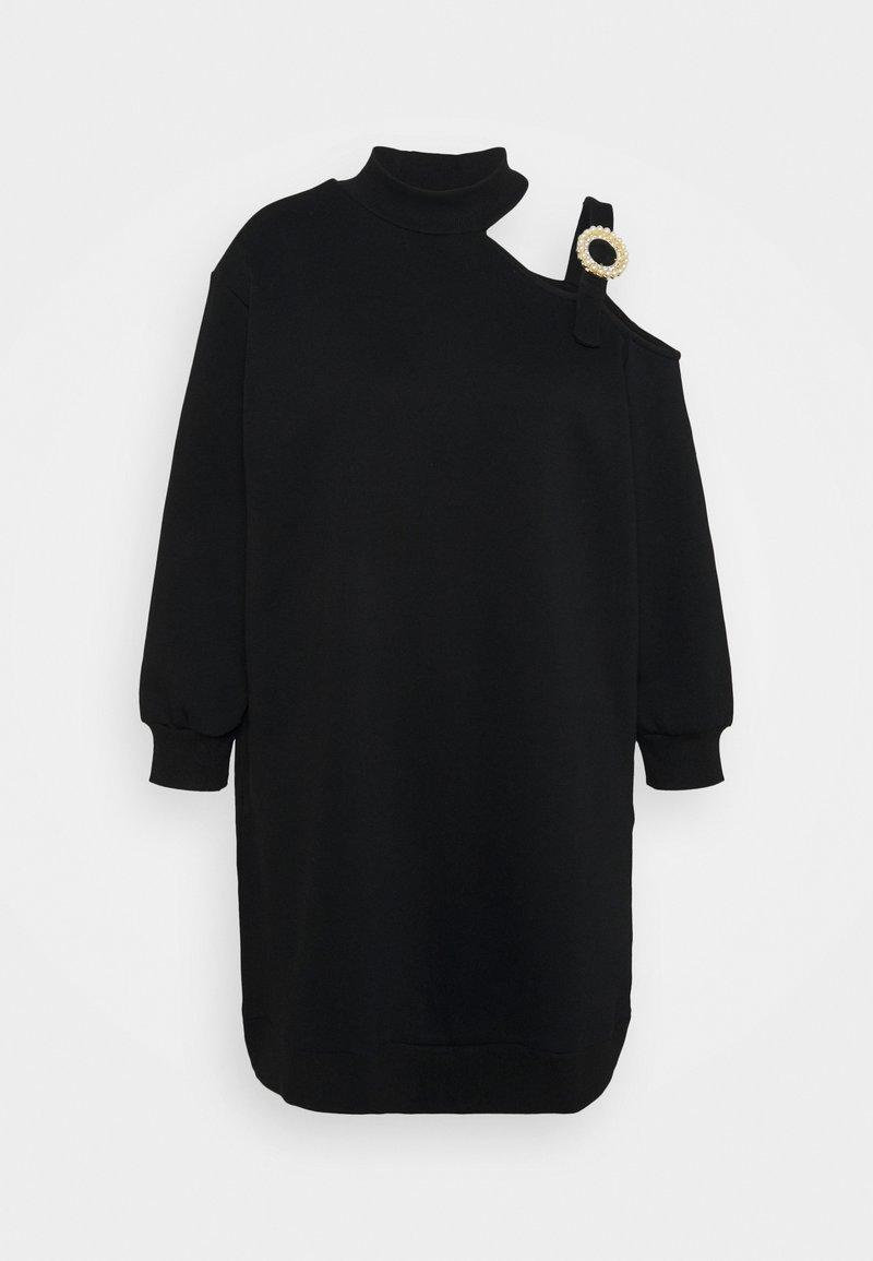 River Island Plus - CUT OUT BUCKLE DRESS - Kjole - black