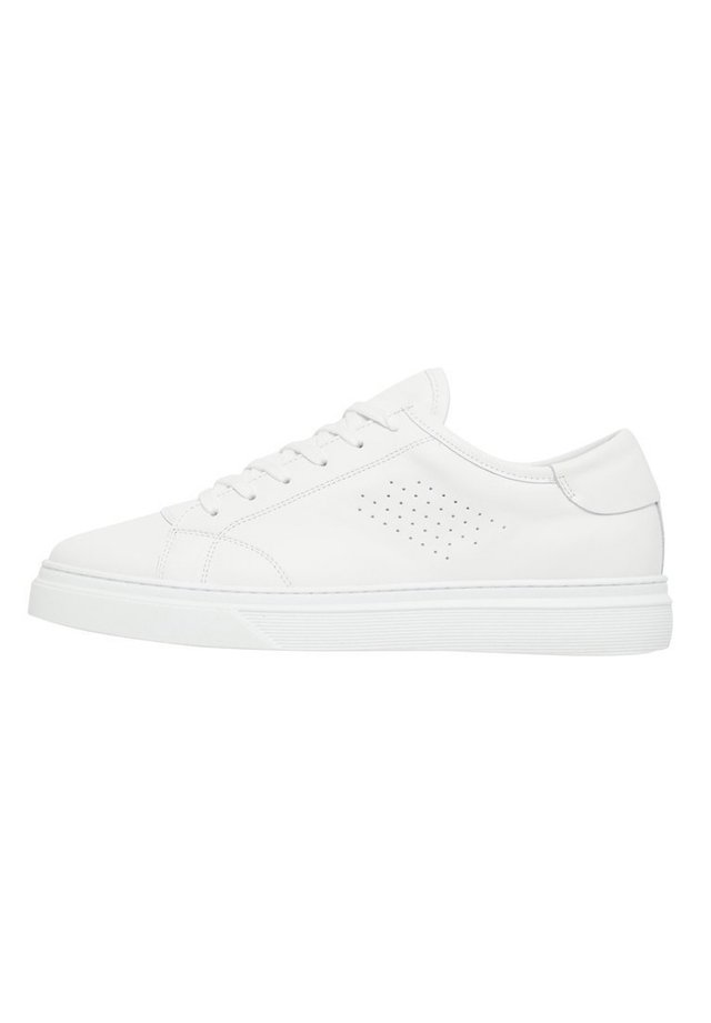 BIANCO SNEAKERS LEDER - Baskets basses - white