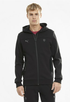 FERRARI STYLE - veste en sweat zippée - black