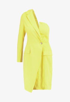 ONE SHOULDER ZIP FRONT DRESS - Robe de soirée - yellow