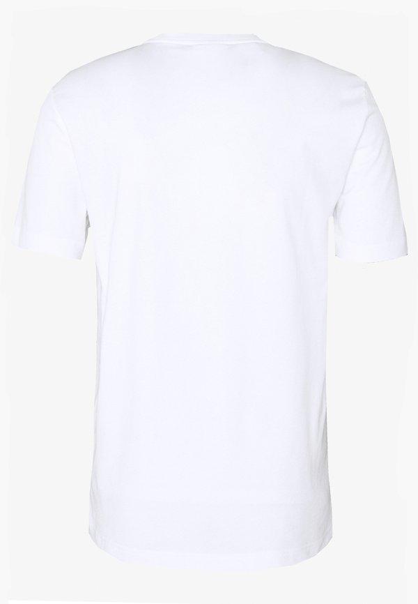 Calvin Klein SMALL TONE LOGO - T-shirt z nadrukiem - white/biały Odzież Męska GFJF