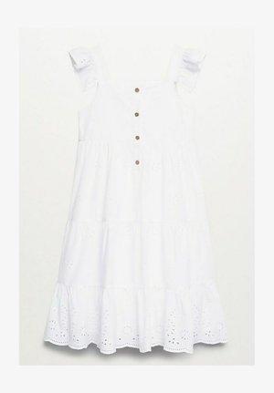 MIT BRODERIE ANGLAISE - Shirt dress - cremeweiß