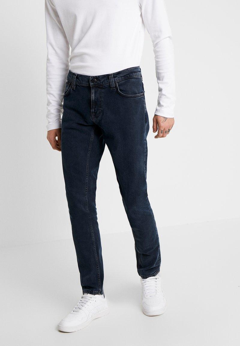 Nudie Jeans - TIGHT TERRY - Džíny Slim Fit - black ocean