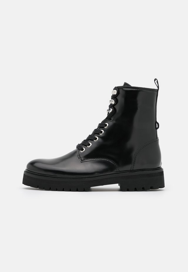 AVE HIKER COMBAT BOOT - Bottines à lacets - black