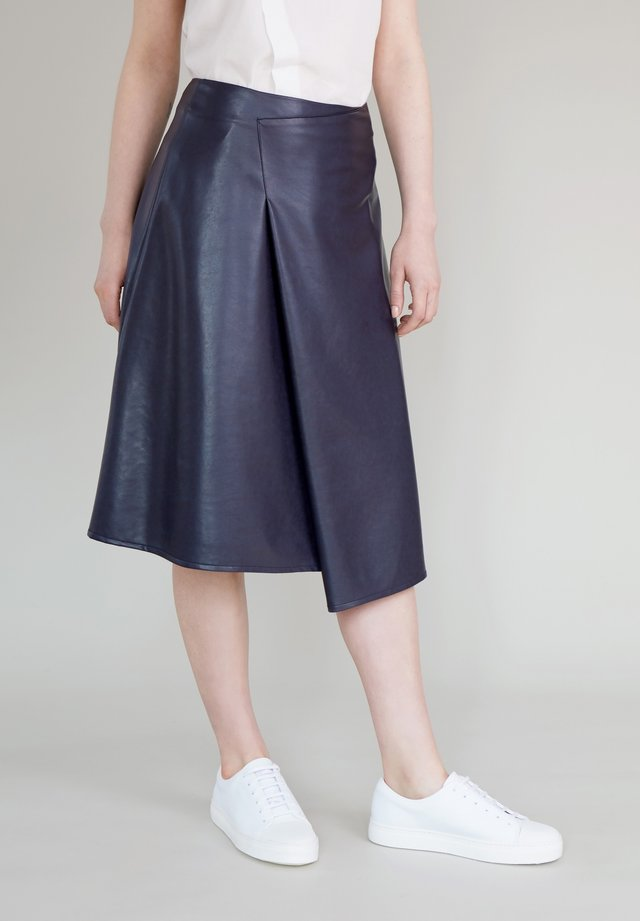 A-line skirt - dark purple