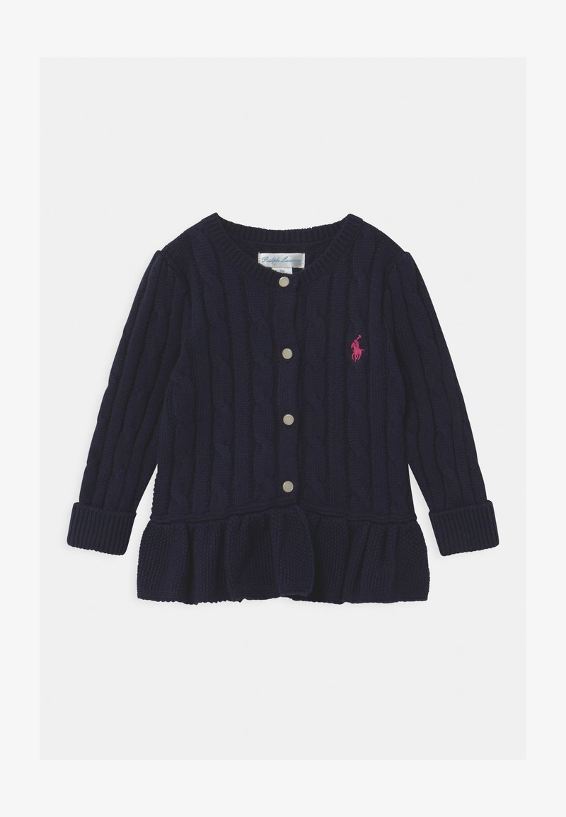 Polo Ralph Lauren - PEPLUM  - Gilet - navy/pink