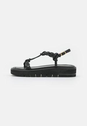 CALYPSO LIFT - Sandalen met plateauzool - black