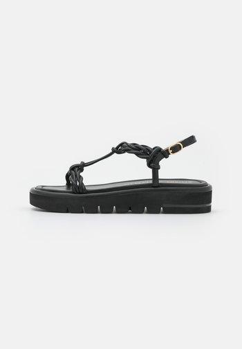 CALYPSO LIFT - Platform sandals - black