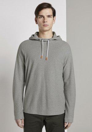 Hoodie - light stone grey melange
