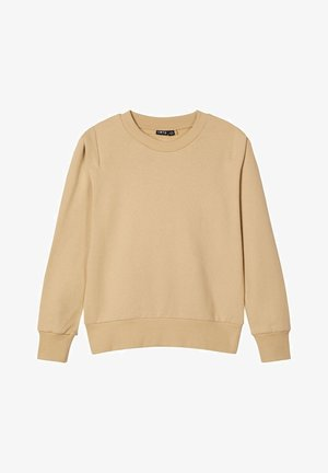 RUNDHALSAUSSCHNITT - Sweater - travertine