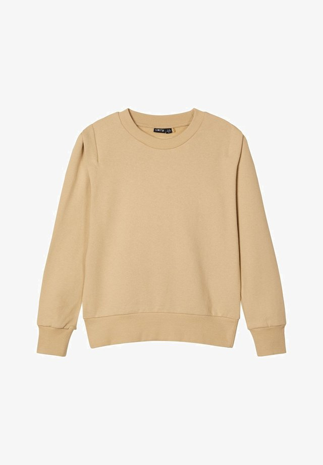 RUNDHALSAUSSCHNITT - Sweatshirt - travertine