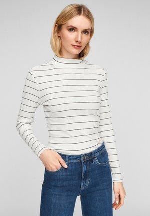 LANGARM - Long sleeved top - cream stripes