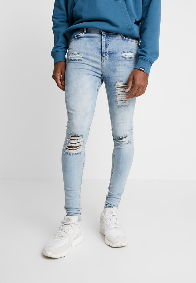 BLUE DISTRESSED  - Jeans Skinny Fit - blue