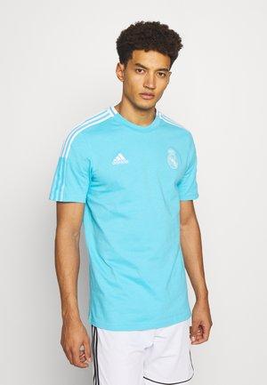 REAL MADRID TEE - T-shirt sportiva - cyan