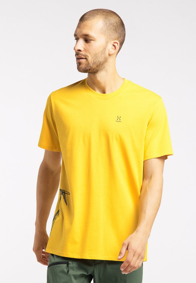 Print T-shirt - pumpkin yellow