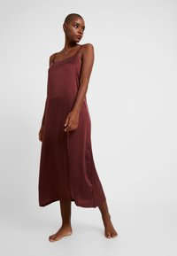 ASCENO - LONG SLIP DRESS - Nightie - rust - 0
