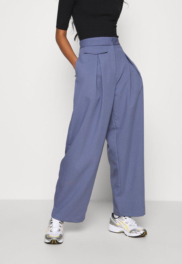 NIGELLA TROUSERS - Trousers - steel blue