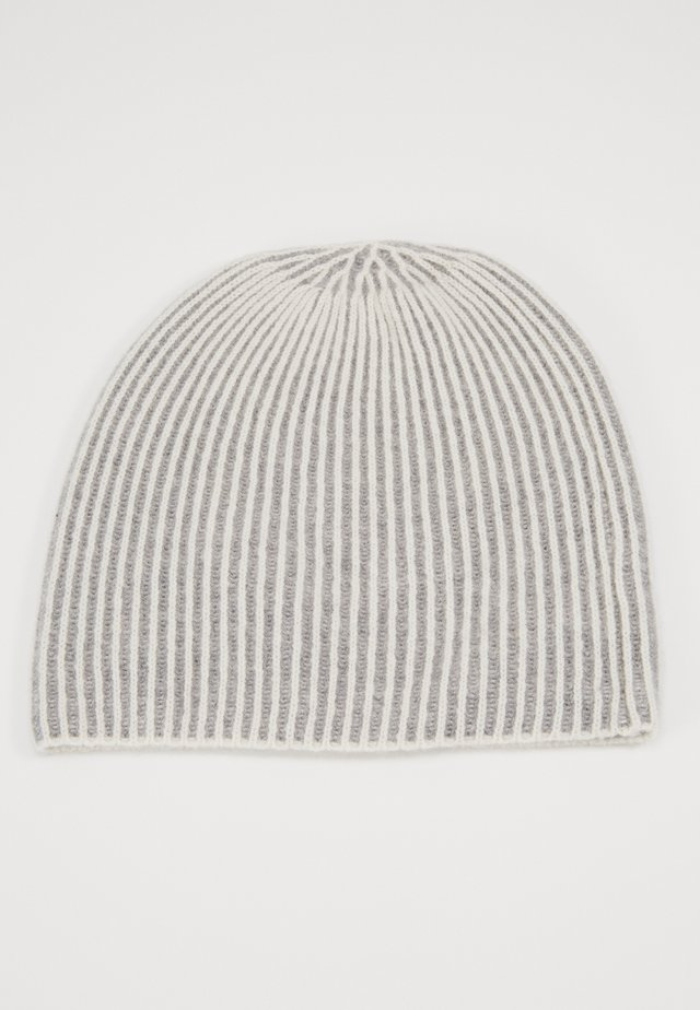 BEANIE - Berretto - cream/grey