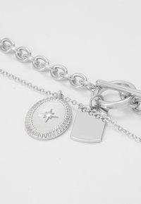 Pieces - PCDUNIO COMBI NECKLACE KEY 2 PACK - Náhrdelník - silver-coloured - 4