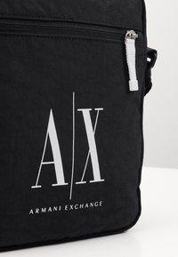 Armani Exchange - SMALL CROSSBODY BAG - Across body bag - black - 5