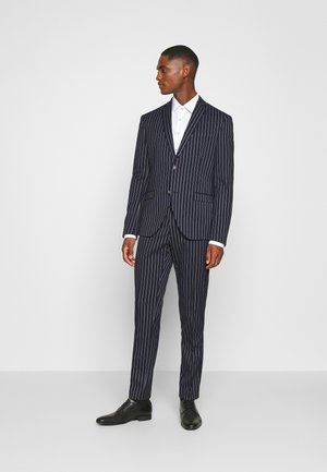 BOLD STRIPE SUIT - Oblek - dark blue