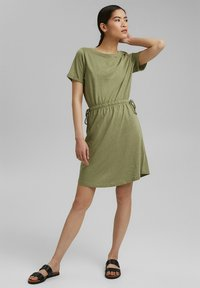Esprit - Jersey dress - light khaki - 1